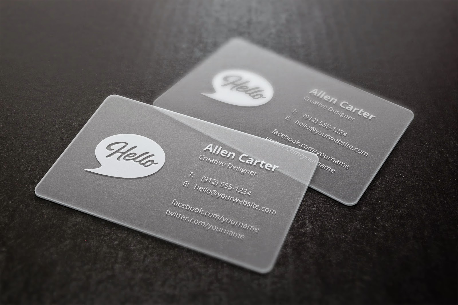 Fantastic Frosted Plastic Business Cards Gallery - Business Card ...
